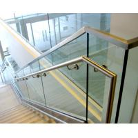 Quality Aluminum u base channel glass railing with stainless steel top handrail for sale