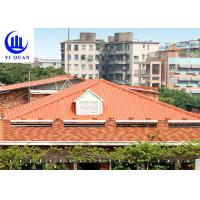 Quality Hot Sale  Synthetic Resin Roof Tile PVC Plastic Spanish Roofing Cover For Villa for sale