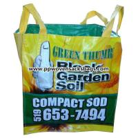 Quality BOPP Film Laminated PP Woven Ton Bags / Multi-color Printed Woven Polypropylene FIBC Bags for sale
