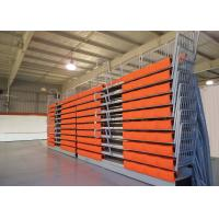Buy cheap Spectator Retractable Grandstands Telescopic Seating System Wall Attached Unit from wholesalers