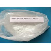 Quality 99% Purity Clomifene Citrate / Raw Hormone Powders White Crystalline CAS 50-41-9 for sale