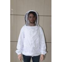 Quality White Color Bee Jacket Beekeeper Costume Without Collar , Easily Washable for sale
