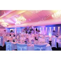 Quality Garden Uv Resistant Banquet Luxury Wedding Party Tents Lighting System Choosen for sale