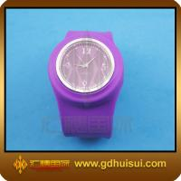 Quality purplr color silicone wrist watch for sale