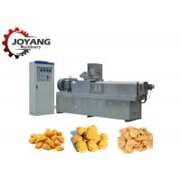 China Tvp Soya Vegetarian Meat Muscle Protein Double Extruder Machine Soya Chunks Processing on sale