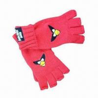 Quality Kid's Winter Gloves, Made of 100% Acrylic, with Cartoon Logo for sale
