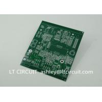 Double Sided 3oz Blank Copper Pcb Board Immersion Silver Plating Green Solder