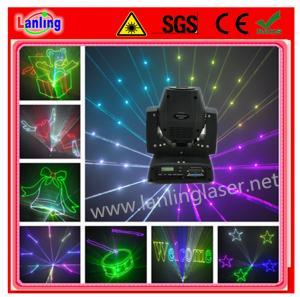 China 450mW RGB 15kpss DMX ILDA Animation Mini Moving-Head Laser light(LHB450RGB) on sale