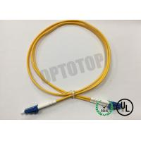 Quality LC / UPC - LC / UPC OS2 Single Mode Optical Patch Cord 2f Zip 2.0mm Ofnr Corning Smf-28 Ultra for sale