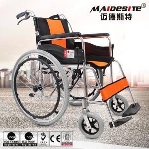 Quality Comfortable Aluminium Folding Wheelchair Skid Proof Handle Brake / Rear Brake for sale