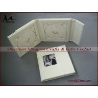 Quality Leather Fabric Linen cd dvd storage packaging Box for sale