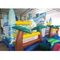 Quality Giant Inflatable dolphin New Ocean undersea world Fun city Inflatable ocean playground park for sale