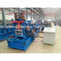 Hydraulic Steel Roll Forming Machine C Purlin GCr15 Roller Frequency Control for sale