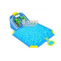 Giant Outdoor Inflatable Playground , Jungle Inflatable Amusement Park With Printing for sale