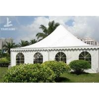 Buy cheap White PVC Fabric Cover Pagoda Wedding Marquee High Peak Tents for Fun on Grassland from wholesalers