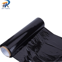 China 10~50 Micron Black Casting 3 layers LLDPE Stretch Film on sale