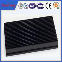 Quality aluminium 6063 t5 heat sink with punching, OEM aluminium black anodized heat sink for sale