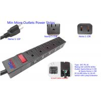 Quality American 10 Outlets Slim Plug Power Strip With Side Socket , Power Distribution Unit for sale