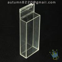 Quality BO (65) acrylic box with hinge lid for sale