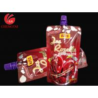 Stand Up Spout Pouch Packaging with Customized Cap / Beverage Nozzle Pouch for sale