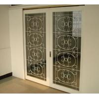 Quality white color wrought iron glass for sale