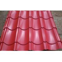 Buy Color Coated Steel Sheets / Tile, Waved Type Corrugated Roofing Sheet / Plate JIS3302 at wholesale prices
