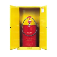 Quality Flame Proof 2 Door Drum Storage Cabinets 60 Gallon For Chemical Liquid for sale