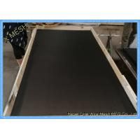 Quality Powder Coated Black Fly Screen Mesh T 316 , Stainless Steel Insect Mesh Roll for sale