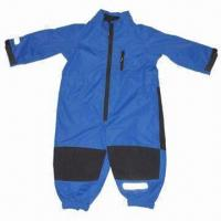 Quality Children's/baby overall, made of polyester fabric, waterproof and breathability for sale