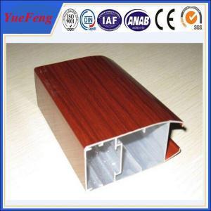 Quality supply wooden transfer printing aluminium extrusion,thermal break aluminium window profile for sale