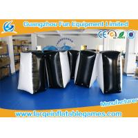 Quality 0.6mm PVC Tarpaulin Black And White Inflatable Blocker For Funny Sport Games for sale