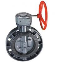 China Manual actuated PVC butterfly valve on sale