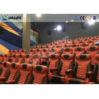 Quality Large Mobile 4D Movie Theater Equipment  , Motion Chairs With Comfortable Headrest And Cup Saucer for sale