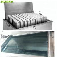 Quality Food industry Cleaning Machine for Oven Tray Pizza Pan with Ultrasonic and Heating System for sale