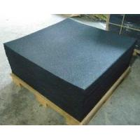 Quality 1000x1000x15mm Black With Speckle Rubber Gym Flooring for sale