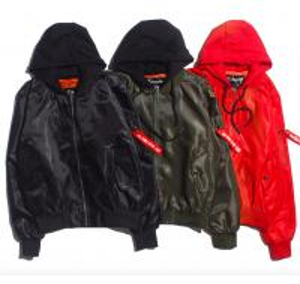 Quality Windproof Mens Winter Bomber Coats , Plus Size Black Nylon Bomber Jacket for sale