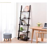 Quality Thick Wood Five Shelf Storage Rack  , Different Widths Decorative Wooden Ladder for sale