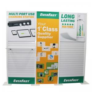 Quality Plastic Slatwall Custom Tradeshow Booth With Fabric Panel Lighting Storage for sale