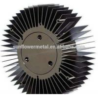 China Round spiral aluminum alloy heat sink, Discounted price extruded large round aluminium heatsink on sale