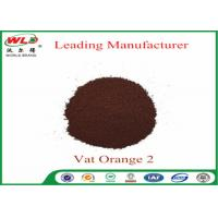 Quality C I Vat Orange 2 Vat Golden Orange 2RT Dye Powder For Cotton Fabric for sale