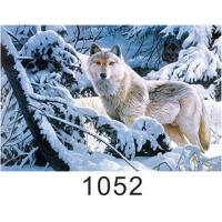 0.6mm Thickness 3D Lenticular Images  ,  Advertising Poster 3D Wolf Picture