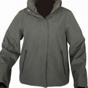 Quality Women's Outdoor Jacket, Army Green/Dark Navy, Fashionable Windbreaker for sale
