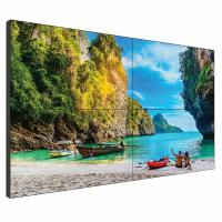 Quality 55 Inch Seamless Lcd Wall , 0.8mm 2x2 Ultra Narrow Bezel Video Wall for sale