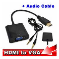 China Wholesale HDMI to VGA with Audio Cable M/F 1080p HDMI to VGA Converter for Xbox 360 PS3 on sale