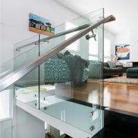 Buy cheap 304 Stainless Steel Standoff Tempered Glass Balcony Railing Design from wholesalers