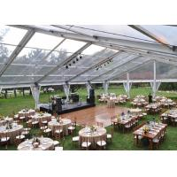 Quality 500 People Clear Span Tents For Weddings Receptions With Transparent PVC Roof for sale