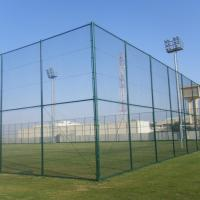 China 200*50mm Beautiful Design PVC Coated Chain Link Fence for Playground on sale