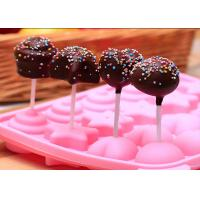 China DIY Baking Silicone Candy Molds / Pink Silicone Chocolate Mold on sale