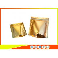Quality Reusable Aluminium Foil Stand Up Coffee Packaging Bags Tea Cookie Packing Bag With Zip Lock for sale