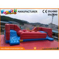Quality Commercial 0.55 MM PVC Tarpaulin Inflatable Obstacle Course With Slide for sale